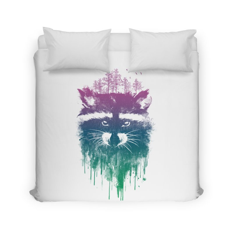 Raccoon Home Duvet by mitchdosdos's Shop