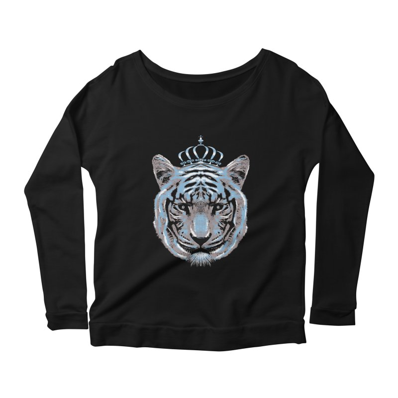 Queen Of The Jungle Women's Longsleeve Scoopneck  by mitchdosdos's Shop