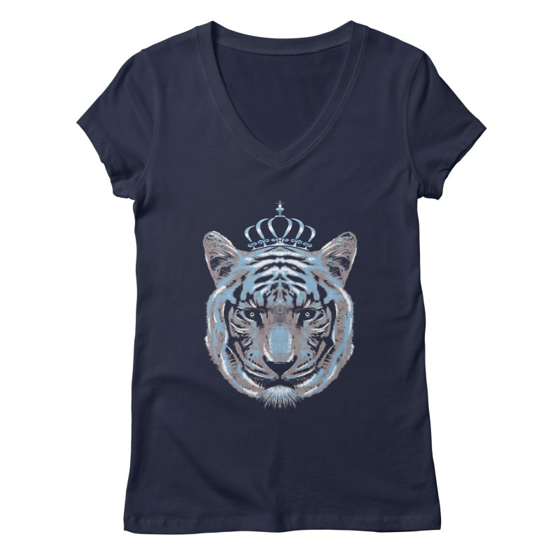 Queen Of The Jungle Women's V-Neck by mitchdosdos's Shop