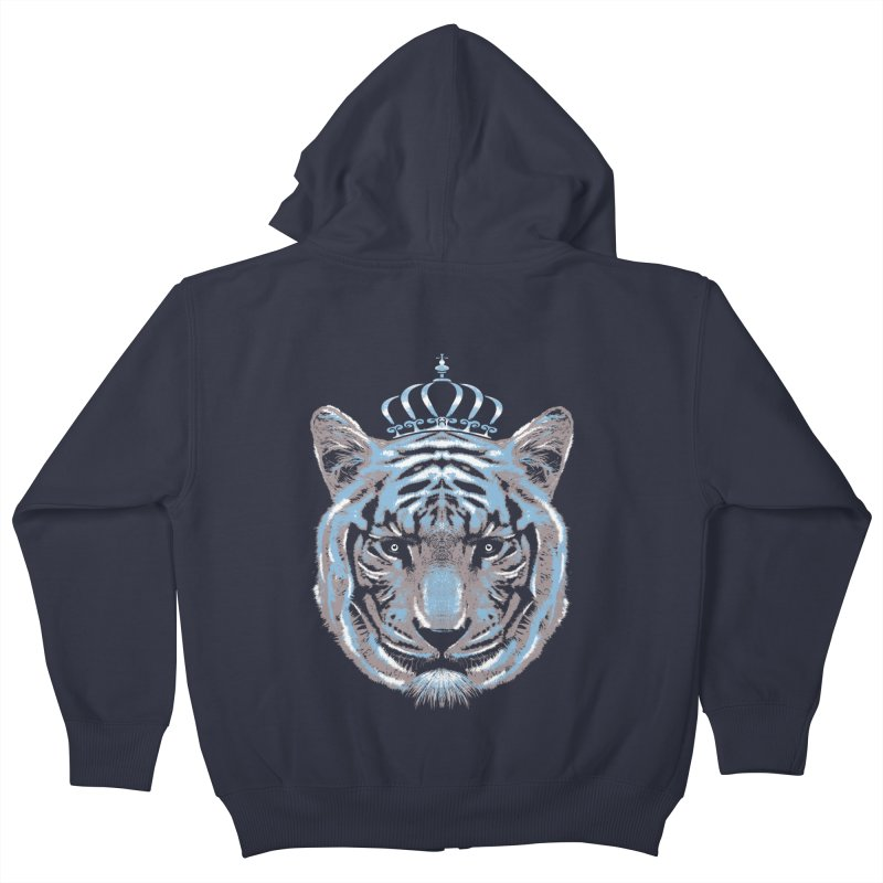 Queen Of The Jungle Kids Zip-Up Hoody by mitchdosdos's Shop