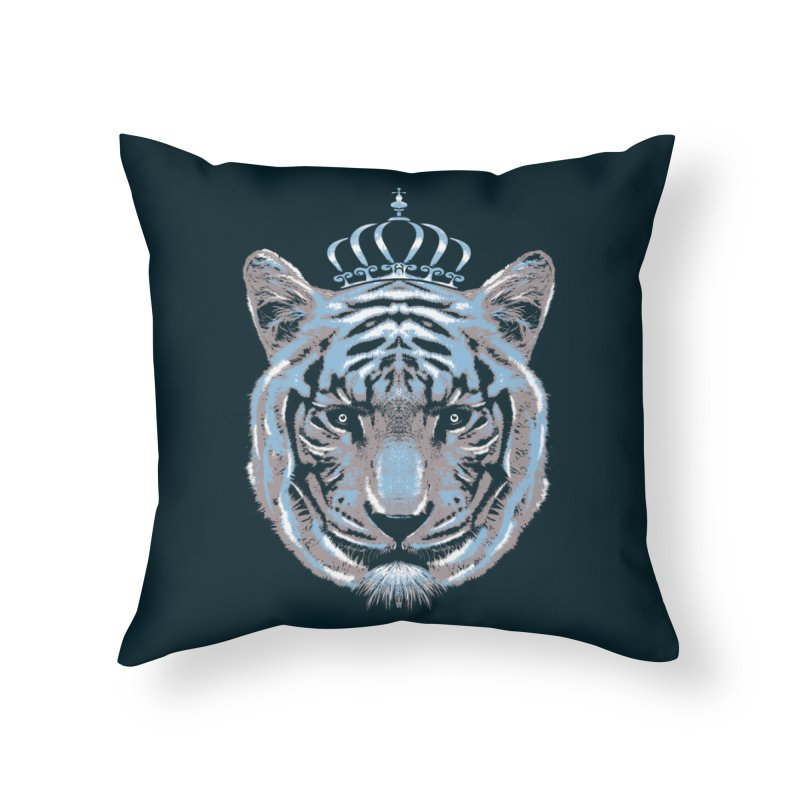 Queen Of The Jungle Home Throw Pillow by mitchdosdos's Shop