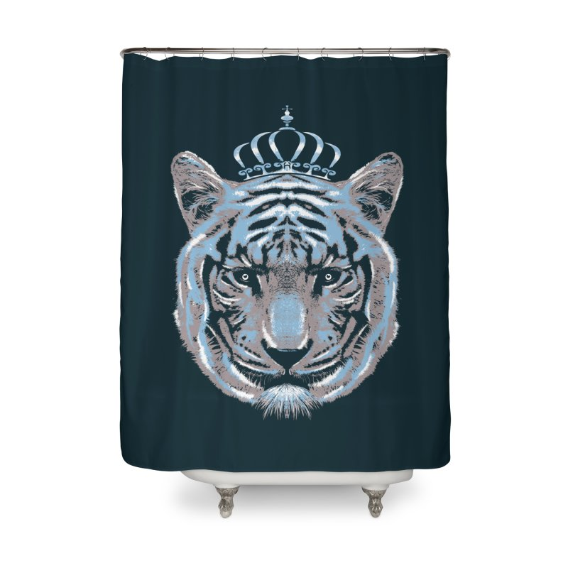 Queen Of The Jungle Home Shower Curtain by mitchdosdos's Shop