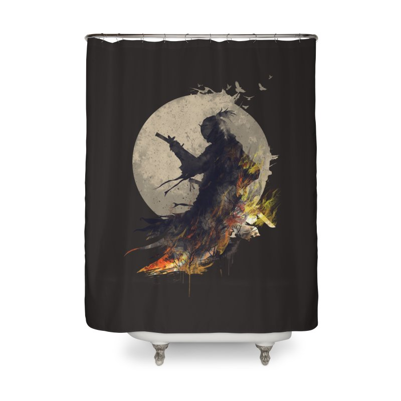 Blazing Samurai 2 Home Shower Curtain by mitchdosdos's Shop
