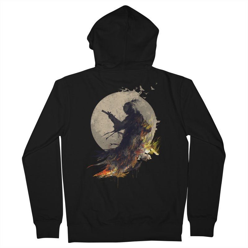 Blazing Samurai 2 Men's Zip-Up Hoody by mitchdosdos's Shop