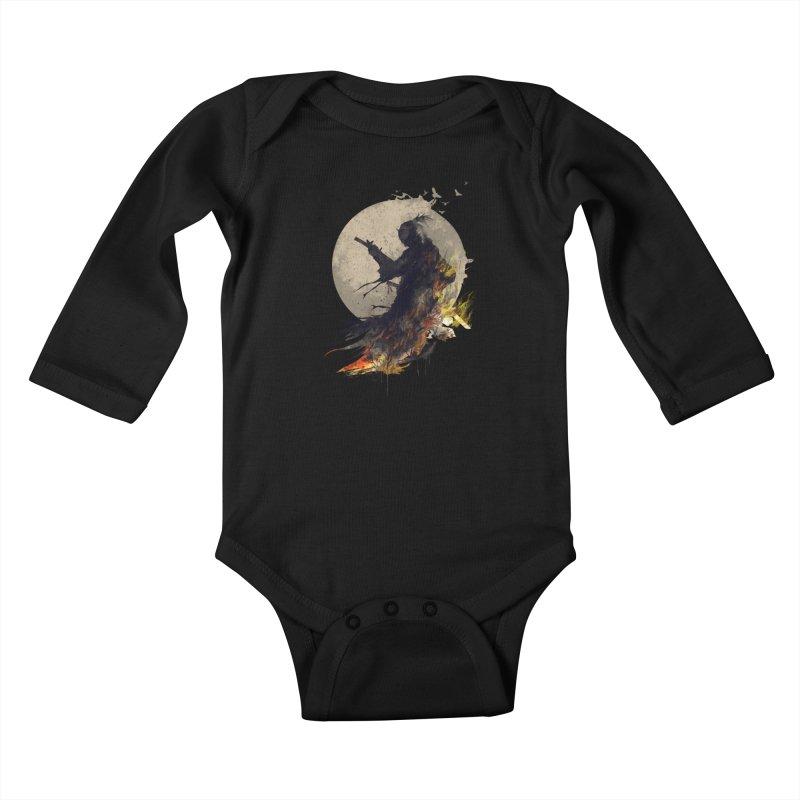 Blazing Samurai 2 Kids Baby Longsleeve Bodysuit by mitchdosdos's Shop