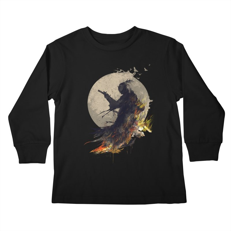 Blazing Samurai 2 Kids Longsleeve T-Shirt by mitchdosdos's Shop