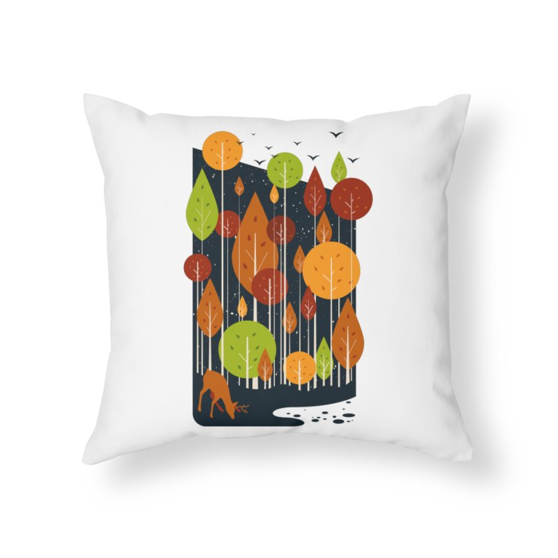 Midnight Scenery Home Throw Pillow by mitchdosdos's Shop