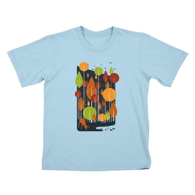Midnight Scenery Kids T-Shirt by mitchdosdos's Shop