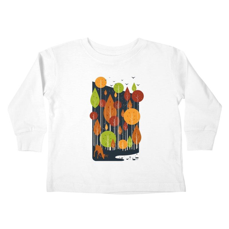 Midnight Scenery Kids Toddler Longsleeve T-Shirt by mitchdosdos's Shop