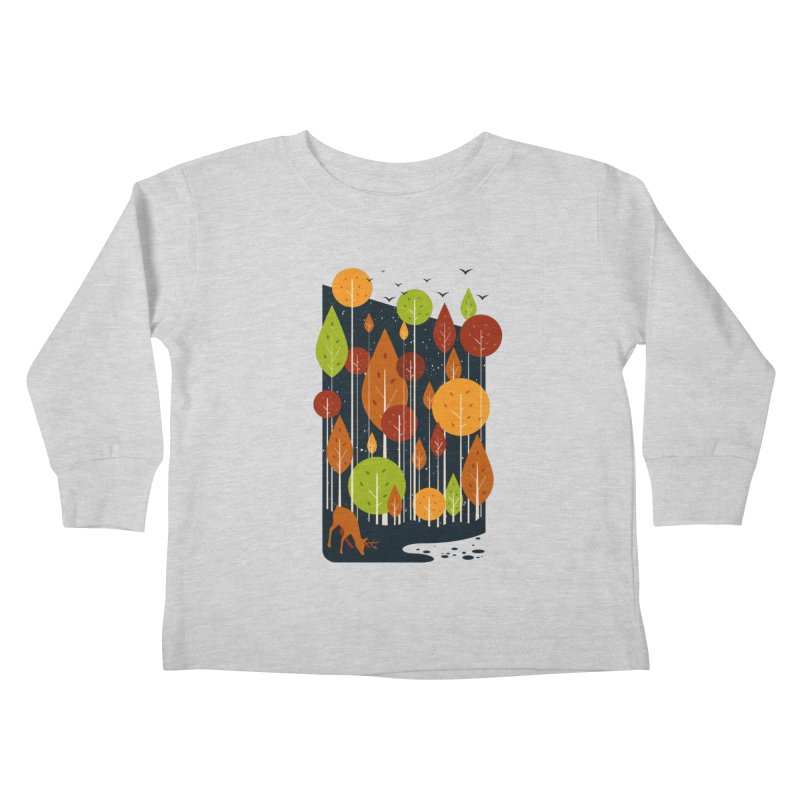 Midnight Scenery Kids Toddler Longsleeve T-Shirt by mitchdosdos's Shop