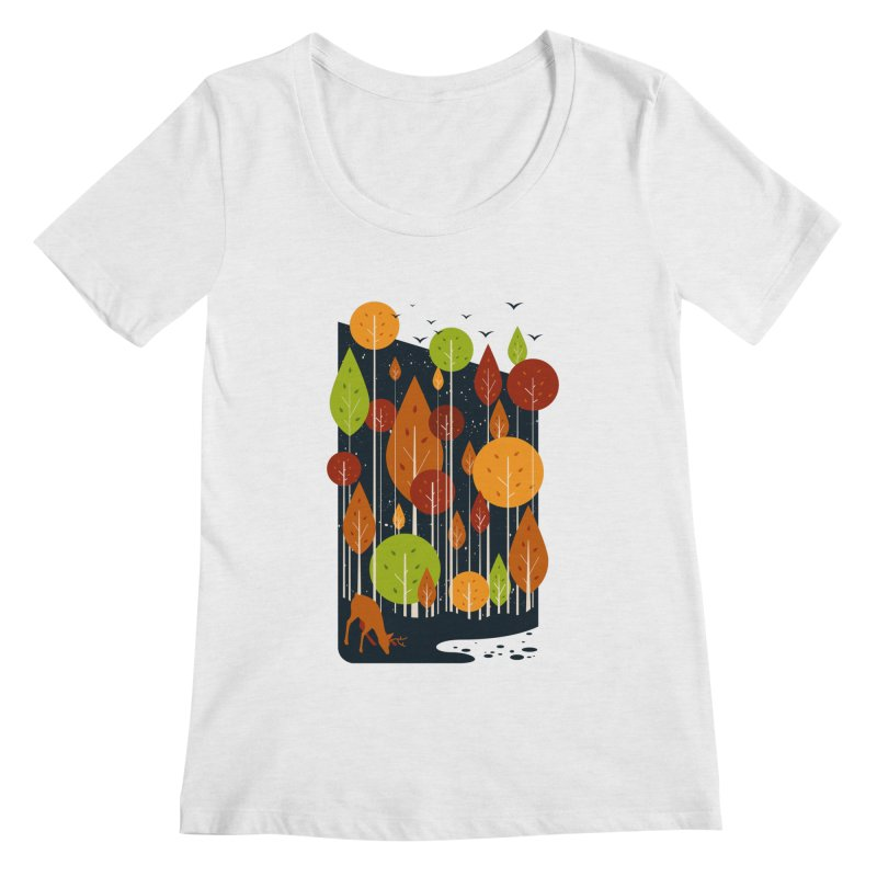 Midnight Scenery Women's Scoopneck by mitchdosdos's Shop