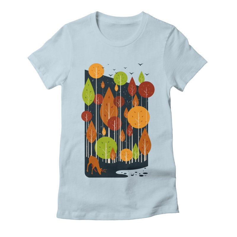 Midnight Scenery Women's Fitted T-Shirt by mitchdosdos's Shop