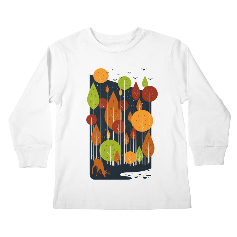 Midnight Scenery Kids Longsleeve T-Shirt by mitchdosdos's Shop