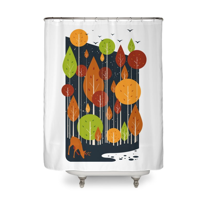 Midnight Scenery Home Shower Curtain by mitchdosdos's Shop