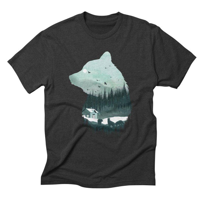 Snow Bear Men's Triblend T-Shirt by mitchdosdos's Shop