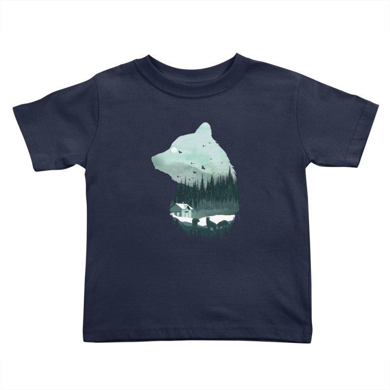 Snow Bear Kids Toddler T-Shirt by mitchdosdos's Shop