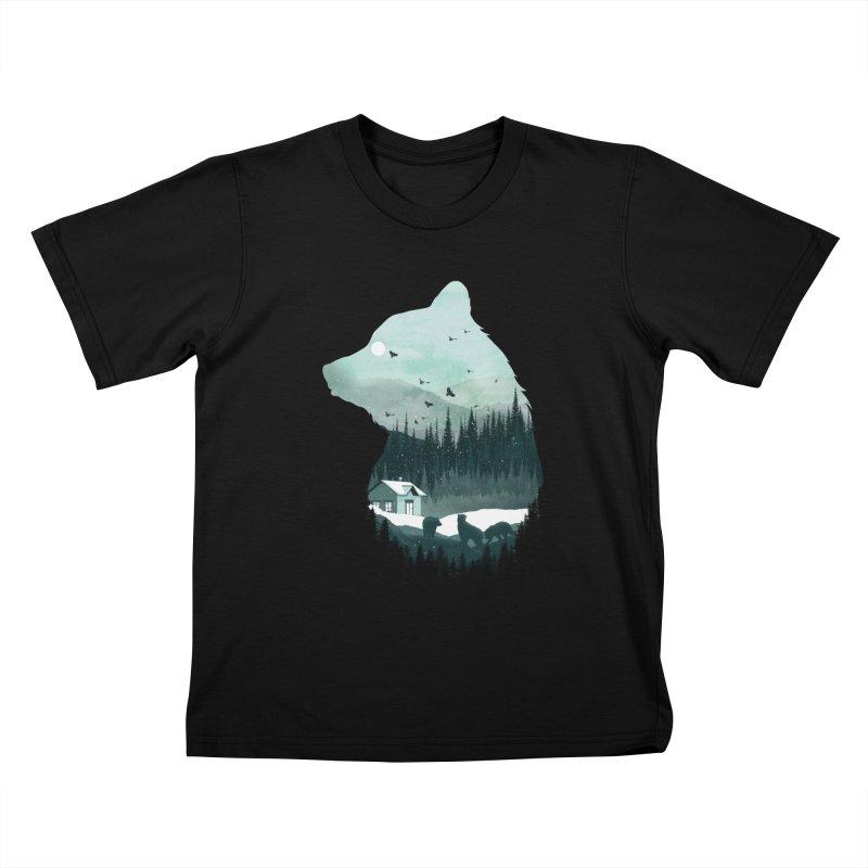 Snow Bear Kids T-Shirt by mitchdosdos's Shop