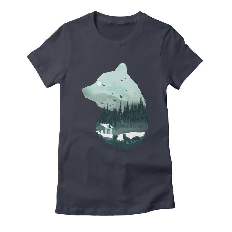 Snow Bear Women's Fitted T-Shirt by mitchdosdos's Shop