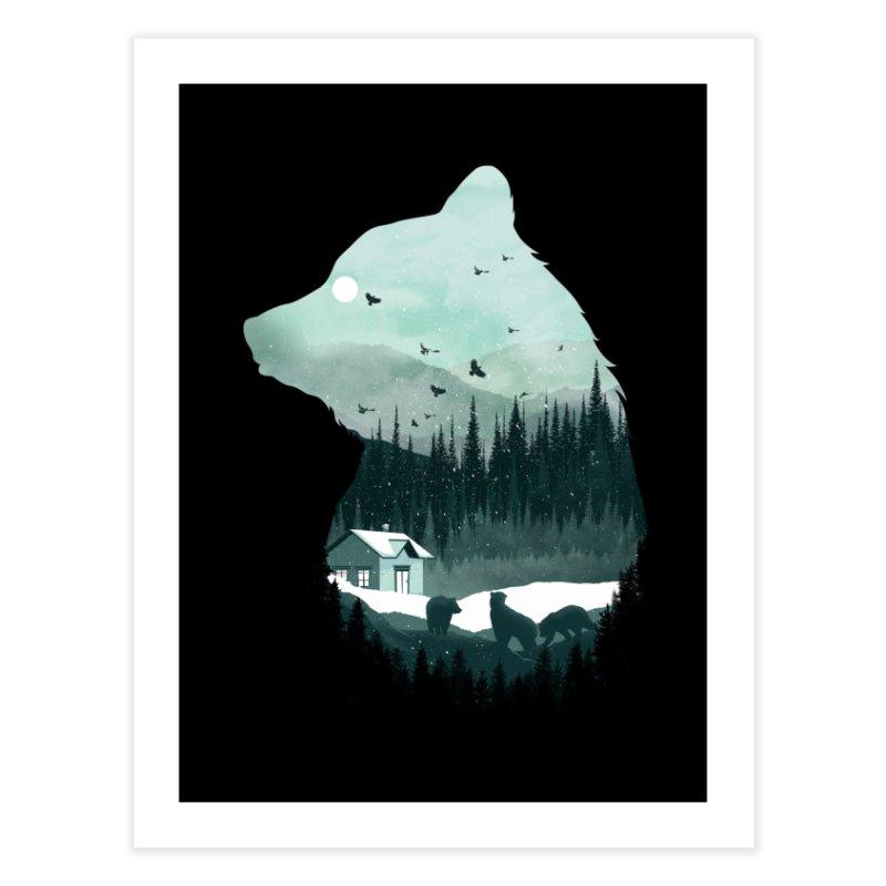 Snow Bear Home Fine Art Print by mitchdosdos's Shop