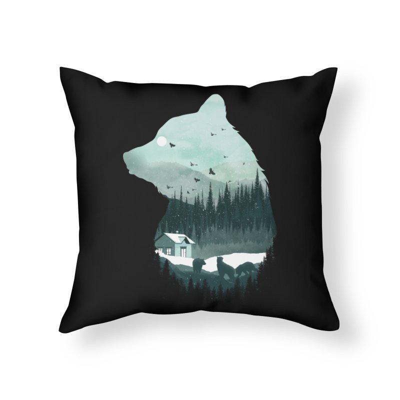 Snow Bear Home Throw Pillow by mitchdosdos's Shop