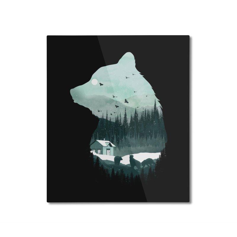Snow Bear Home Mounted Aluminum Print by mitchdosdos's Shop