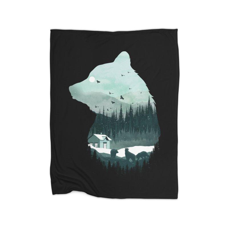 Snow Bear Home Blanket by mitchdosdos's Shop
