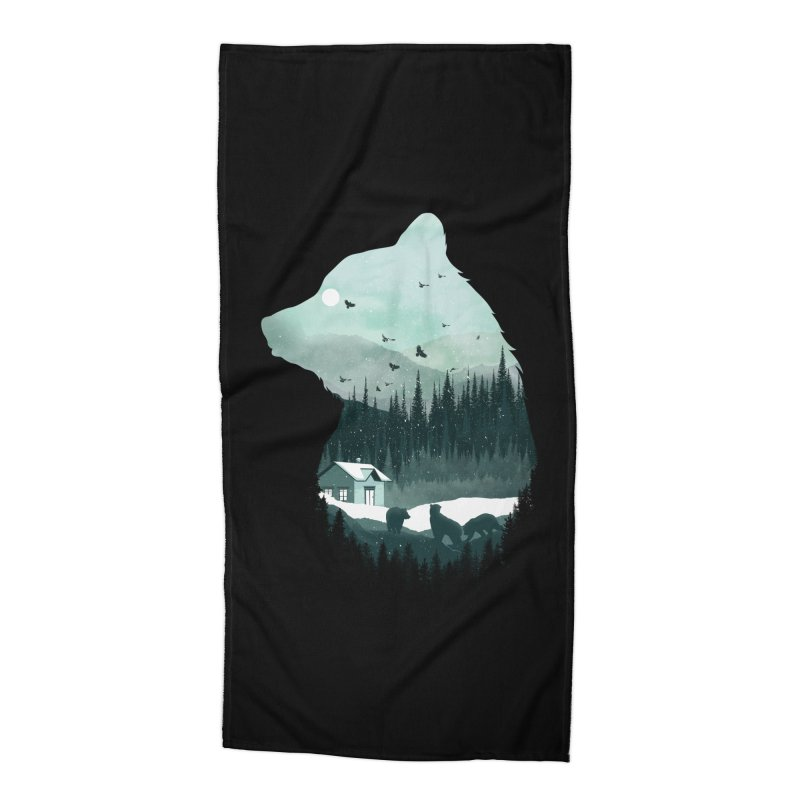 Snow Bear Accessories Beach Towel by mitchdosdos's Shop