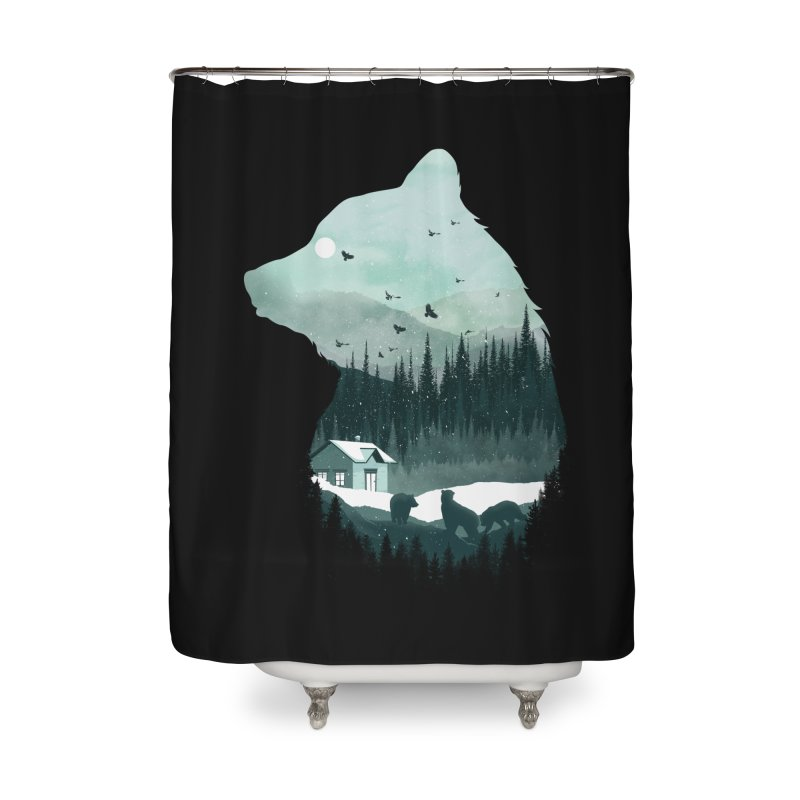 Snow Bear Home Shower Curtain by mitchdosdos's Shop
