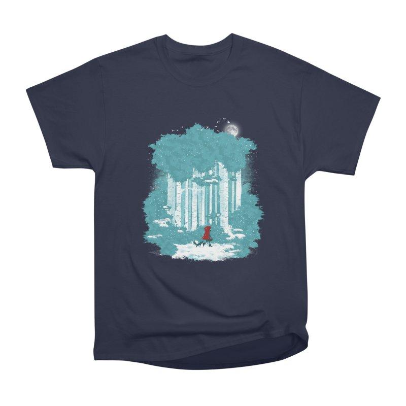 Winter Walk Men's Heavyweight T-Shirt by mitchdosdos's Shop