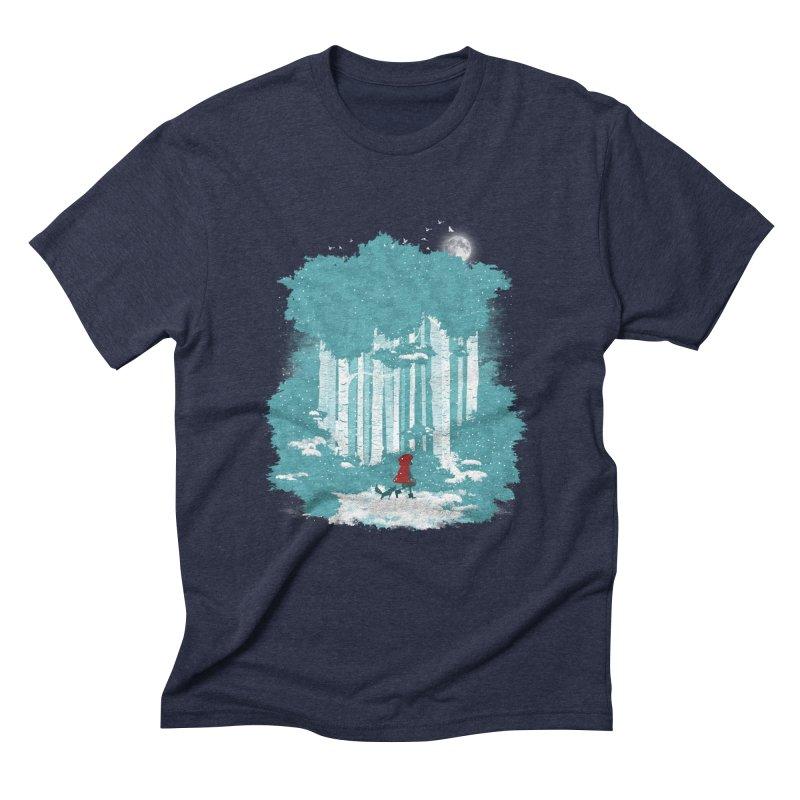 Winter Walk Men's Triblend T-Shirt by mitchdosdos's Shop