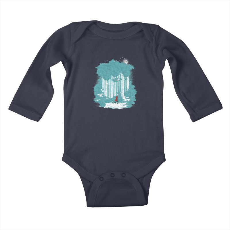Winter Walk Kids Baby Longsleeve Bodysuit by mitchdosdos's Shop
