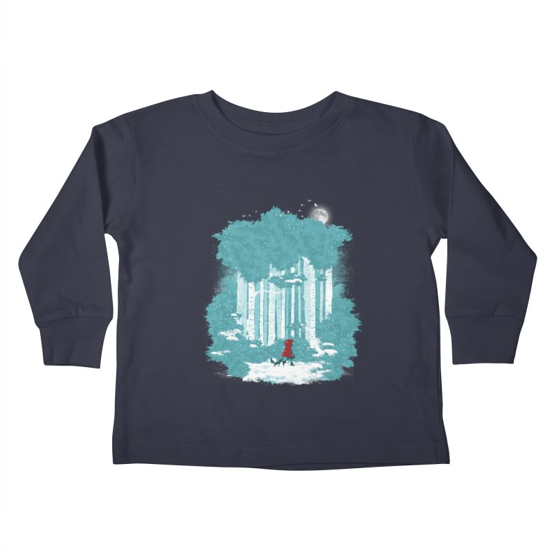 Winter Walk Kids Toddler Longsleeve T-Shirt by mitchdosdos's Shop