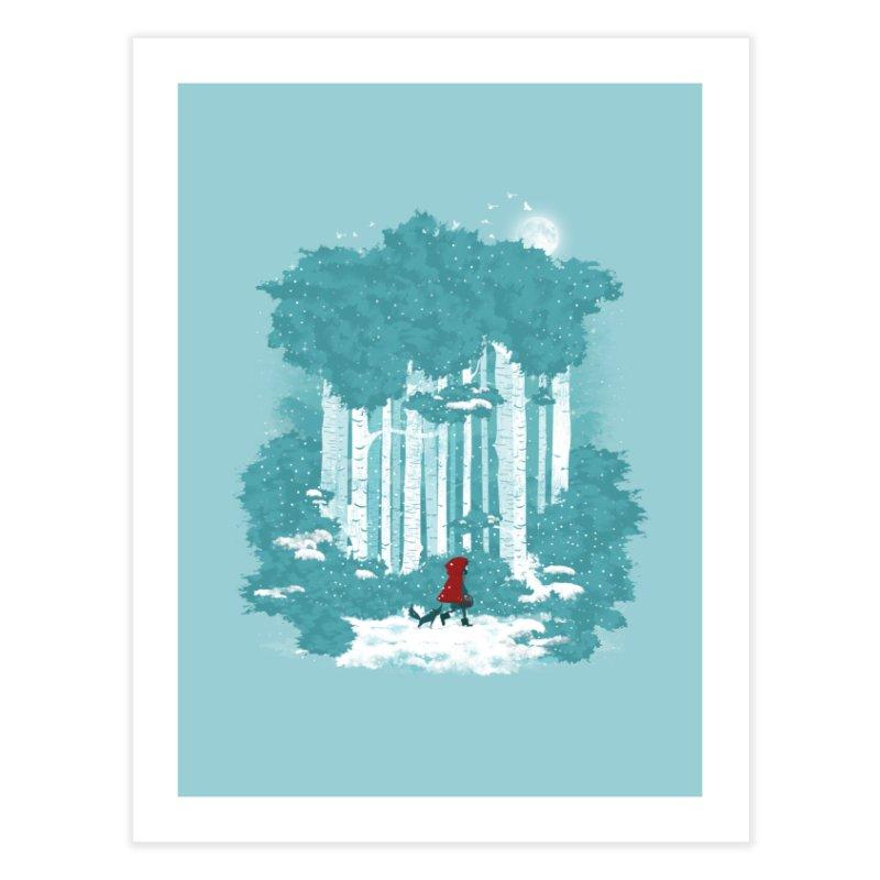 Winter Walk Home Fine Art Print by mitchdosdos's Shop