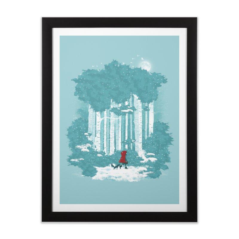 Winter Walk Home Framed Fine Art Print by mitchdosdos's Shop