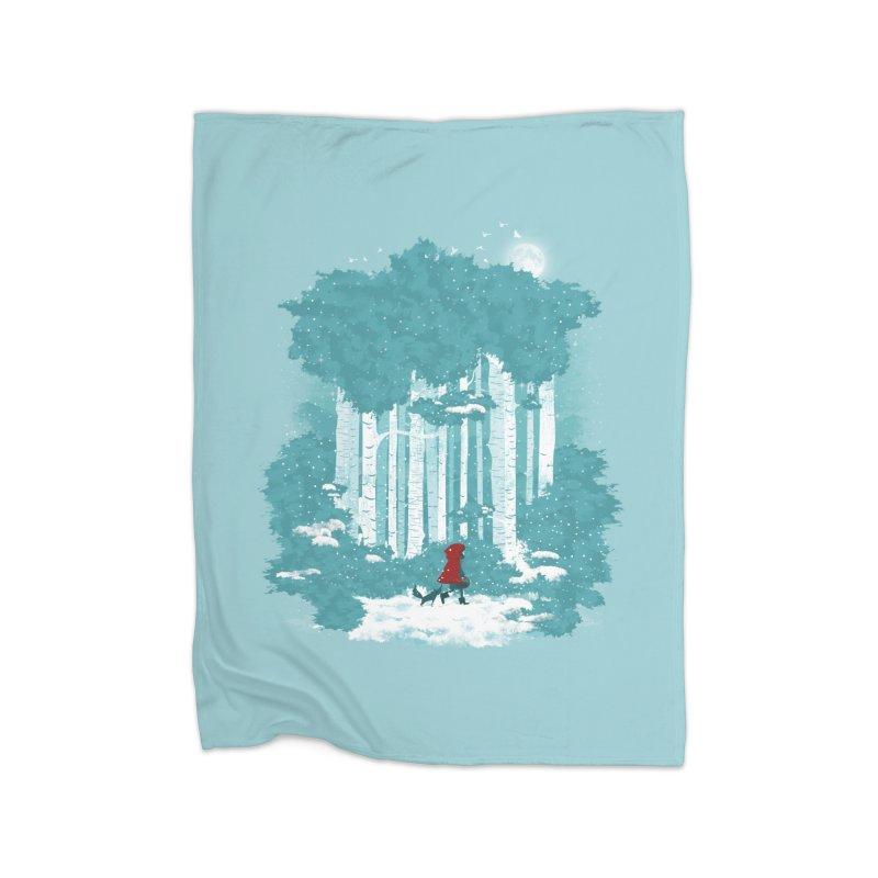 Winter Walk Home Blanket by mitchdosdos's Shop