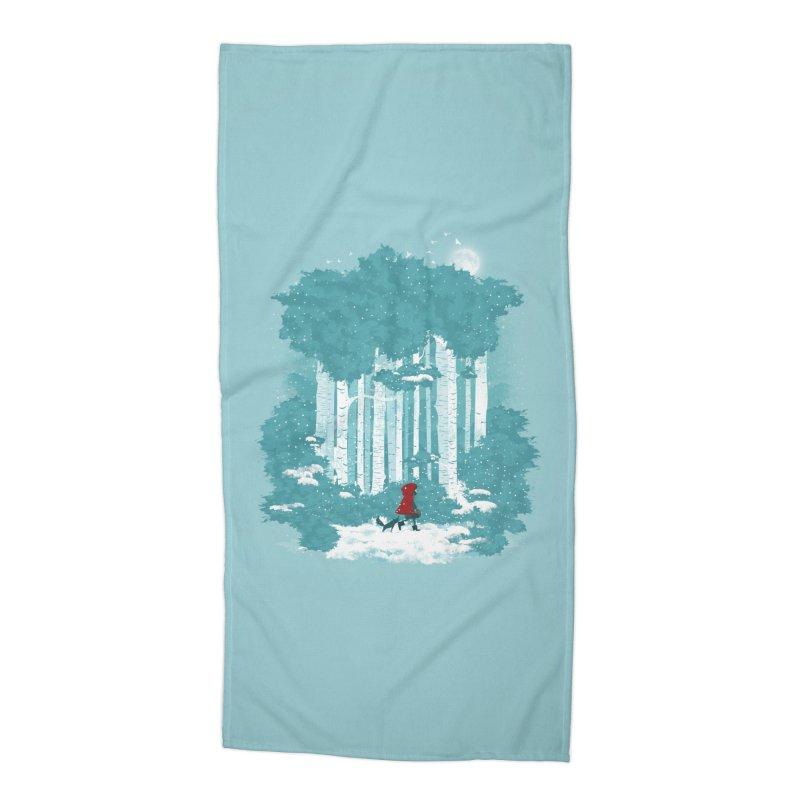 Winter Walk Accessories Beach Towel by mitchdosdos's Shop