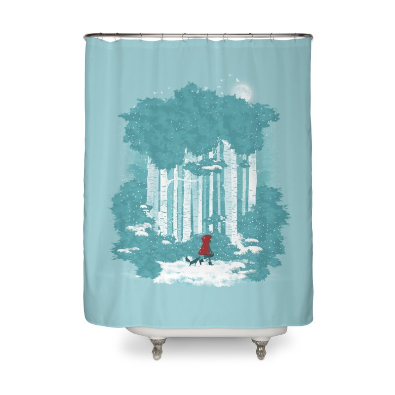 Winter Walk Home Shower Curtain by mitchdosdos's Shop