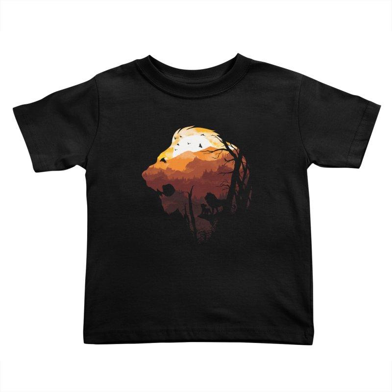 king Of The Pride Lands Kids Toddler T-Shirt by mitchdosdos's Shop