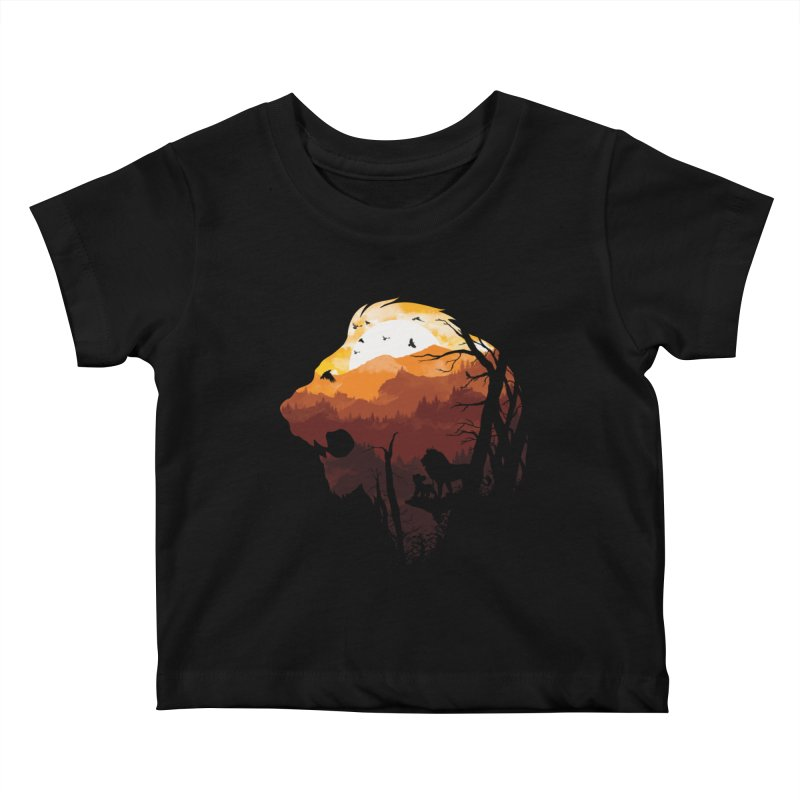 king Of The Pride Lands Kids Baby T-Shirt by mitchdosdos's Shop