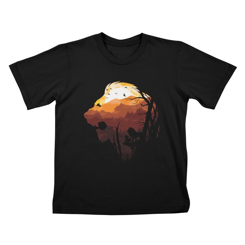 king Of The Pride Lands Kids T-Shirt by mitchdosdos's Shop