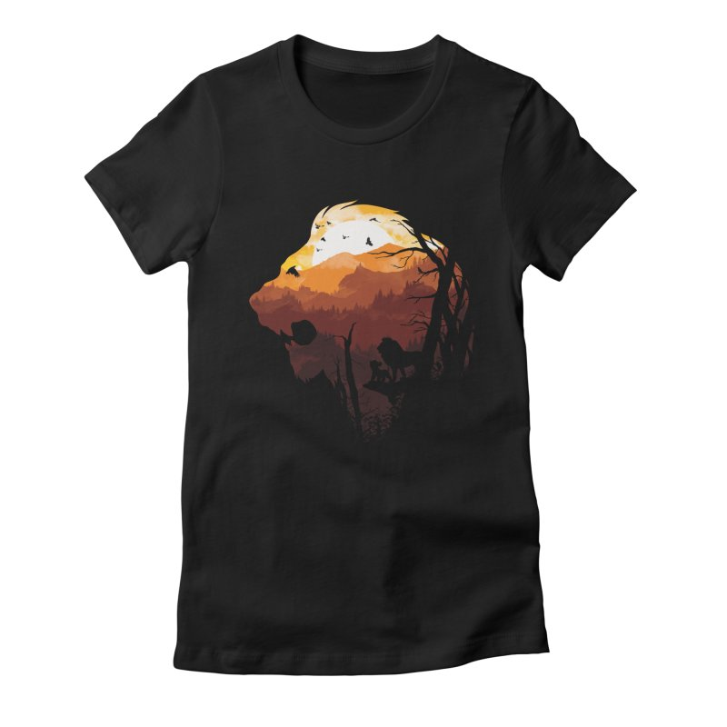 king Of The Pride Lands Women's Fitted T-Shirt by mitchdosdos's Shop