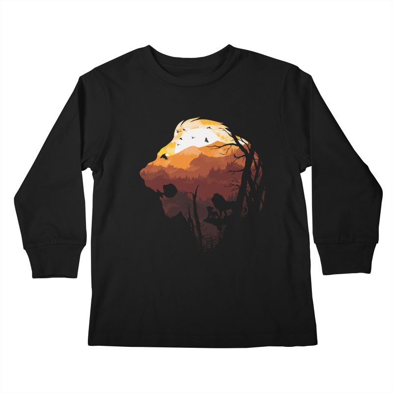 king Of The Pride Lands Kids Longsleeve T-Shirt by mitchdosdos's Shop