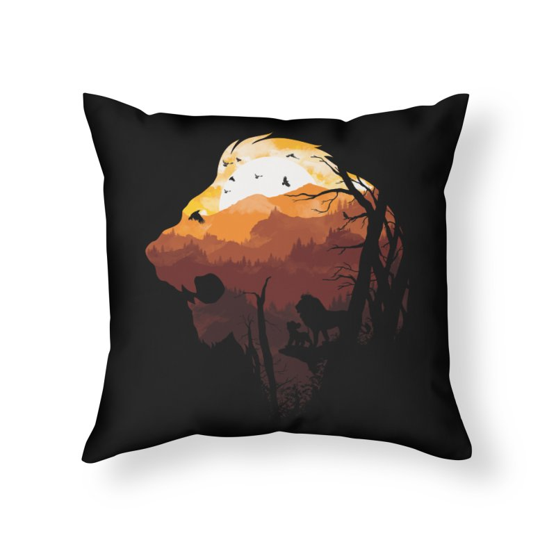 king Of The Pride Lands Home Throw Pillow by mitchdosdos's Shop
