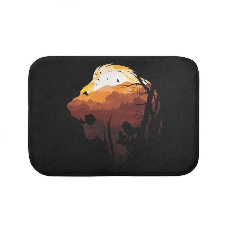 king Of The Pride Lands Home Bath Mat by mitchdosdos's Shop