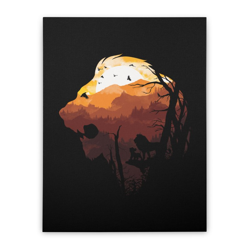 king Of The Pride Lands Home Stretched Canvas by mitchdosdos's Shop