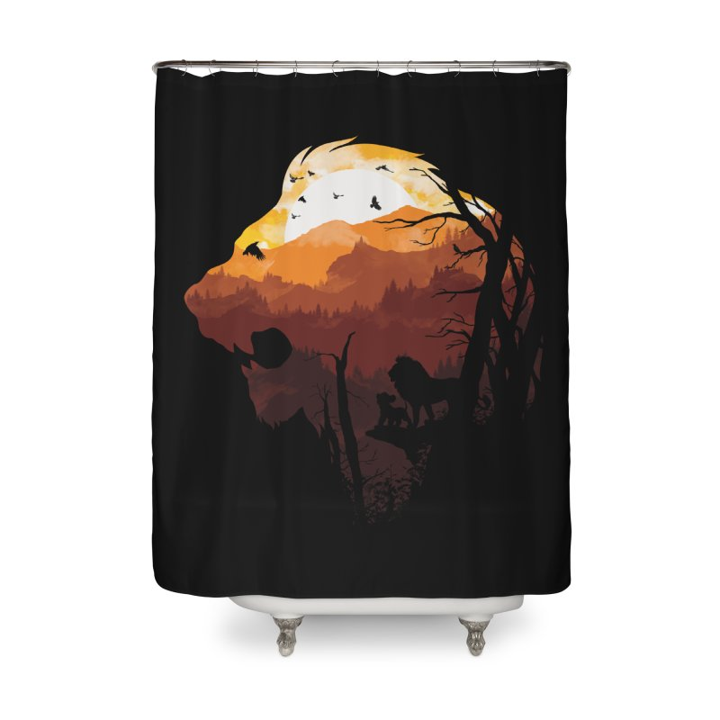 king Of The Pride Lands Home Shower Curtain by mitchdosdos's Shop