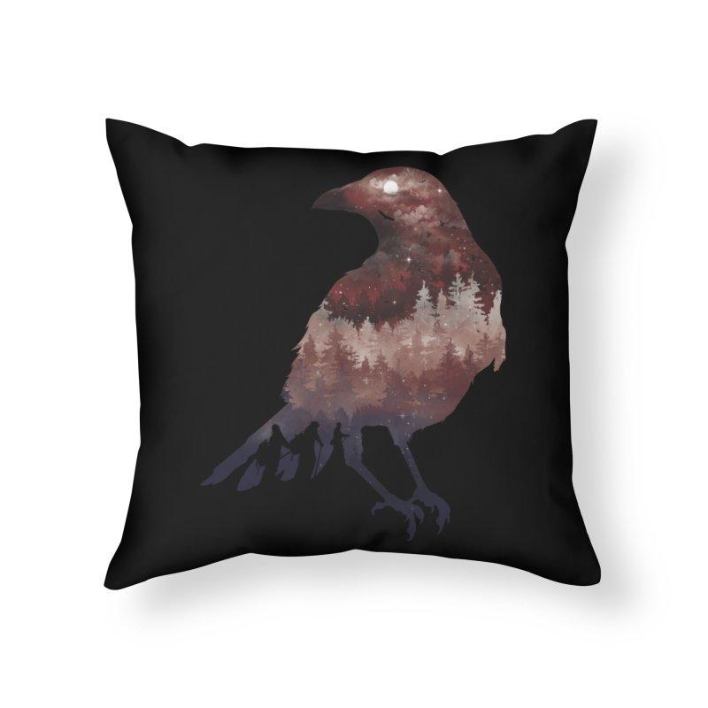Messenger Of Death Home Throw Pillow by mitchdosdos's Shop