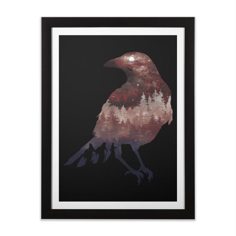 Messenger Of Death Home Framed Fine Art Print by mitchdosdos's Shop