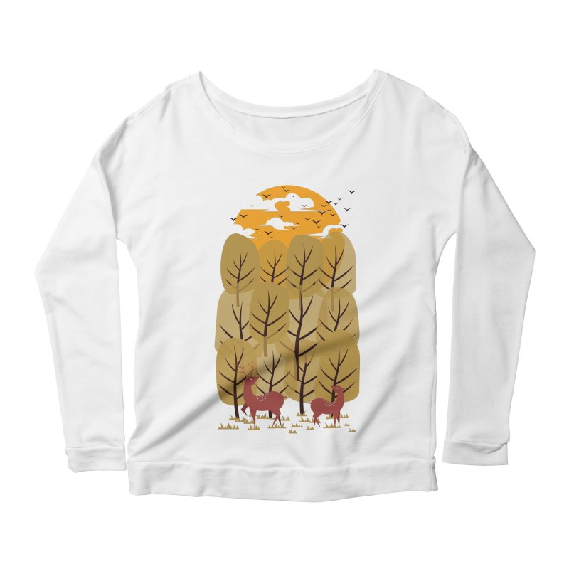 Scenery Women's Longsleeve Scoopneck  by mitchdosdos's Shop
