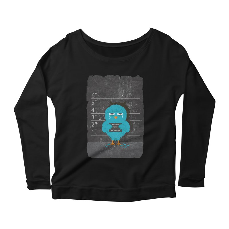 Illegal Twitter Women's Longsleeve Scoopneck  by mitchdosdos's Shop